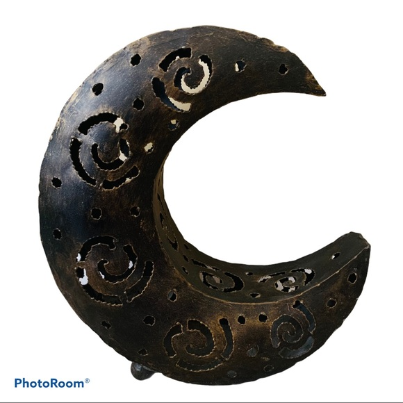 """Metal Astrology Candle Moon Standing Luminary 11"""""""